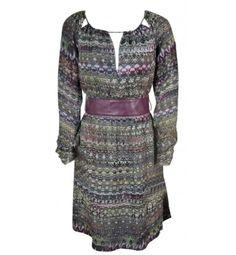 Anne Klein Silk Print Dress Size 6