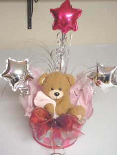 Teddy bear centerpieces (for a girl).
