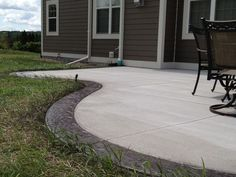 Image result for colored concrete patio with border
