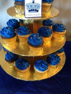 Trendy Baby Shower Ideas For Boys Decorations Prince Royal Blue Prince Cake, Prince Party, Royal Prince, Baby Prince, Baby Shower Cakes, Baby Boy Shower, Prince Birthday Theme, Baby Birthday, Birthday Cupcakes