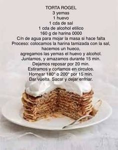 Torta Rogel Cookie Desserts, Cookie Recipes, Argentine Recipes, Choco Chocolate, Crazy Cakes, Catering Food, Mini Cheesecakes, Macaron, Sweets Recipes