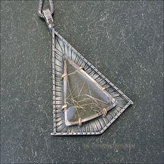 Strukova Elena - copyrights jewelry - pendant with rutile quartz