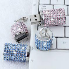 HOT Jewelry Fashion Business Gift USB Flash Drive 1TB 2TB Cle USB Creativo Memory Stick Pendrive 8/16/32GB Pen Drive 64GB 2.0