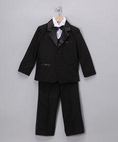 Black Sheen Tuxedo Set - Infant Toddler & Boys