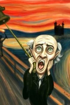 """Edvard Munch's version of """"El Grito"""" Mexican Memes, Mexican Art, Mexican Style, Scream Parody, Le Cri, Popular Paintings, Expressionist Artists, Edvard Munch, Artist Art"""