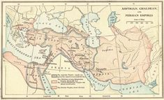 ANCIENT NEAR EAST: Map of the Assyrian, Babylonian, Chaldean, and Persian empires of Africa, Asia, and Europe, 1100-500 B.C.E.