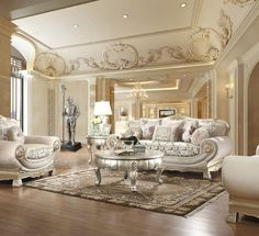 Homey Design Roselyn Chair Give a grand welcome to your guests with the Roselyn antique silver sofa set. This sofa set has a luxury. Formal Living Rooms, Living Room Sets, Unique Furniture, Furniture Design, Kitchen Furniture, Sofa Furniture, Silver Sofa, 3 Piece Sofa, Sofa And Loveseat Set