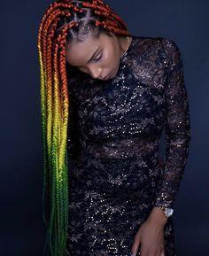 Rock Hairstyles, Side Hairstyles, Box Braids Shaved Sides, Rainbow Braids, Triangle Braids, Shaved Hair Designs, Colored Braids, Blonde Braids, Braided Hairstyles For Black Women