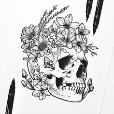 Step By Step Process To Help You Choose Your First Tattoo Design – Wrist Designs Tattoo Sketches, Drawing Sketches, Tattoo Drawings, Tattoo Outline Drawing, Tattoo Art, Beginner Tattoos, Tattoo Designs, Body Art Tattoos, Floral Skull Tattoos