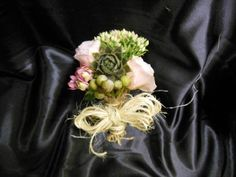 Cute Vintage Succulent Themed Corsage