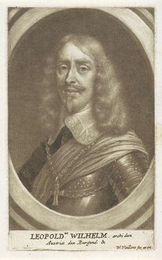 Wallerant Vaillant   Portret van Leopold Willem van Oostenrijk, Wallerant Vaillant, 1658 - 1677   Leopold Willem, aartshertog van Oostenrijk en landvoogd van de Zuidelijke Nederlanden.