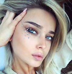 Image result for festival glitter makeup