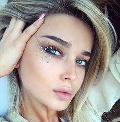 Image result for festival glitter makeup