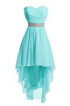 Bess Bridal Women's Lace Up High Low Chiffon Prom Party H...