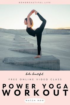 A 15 minute power yoga workout that will strengthen your body & mind from the inside out. Also, this power yoga workout will tone your core, sculpt your lower body, and release all your tension and stress. | Online Yoga Class | Yoga Fitness | Yoga Asanas | Yoga for Beginners | Exercises for Toning | Vinyasa Yoga | Yoga Instructor Juliana Spicoluk | Boho Beautiful yoga poses for beginners YOGA POSES FOR BEGINNERS | IN.PINTEREST.COM #HEALTH #EDUCRATSWEB