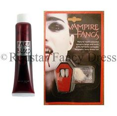 White vampire #fangs #teeth caps & fake blood fancy dress white #dracula hallowee,  View more on the LINK: 	http://www.zeppy.io/product/gb/2/252510213100/