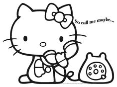 Just Coloring Pages: Hello kitty coloring pages wallpapers for phones Printable coloring sheets - Hello Kitty (Japanese: ハロー・キティ, Hepburn: Harō Kiti), also known by her full name Kitty White (キティ・ホワイト, Kiti Howaito), is a fictional character produc. Hello Kitty Colouring Pages, Coloring Pages For Girls, Cartoon Coloring Pages, Disney Coloring Pages, Free Coloring Pages, Printable Coloring Pages, Coloring Books, Coloring Sheets, Hello Kitty Halloween