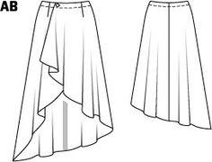 Hi Low Asymmetrical Wrap Skirt 01/2015 #108B – Sewing Patterns | BurdaStyle.com