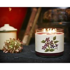 Small Violet Bouquet Candle Wrap #21a www.thisilldocreations.com