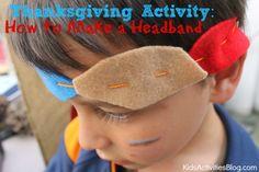 Thanksgiving Activity: How to Make a Headband