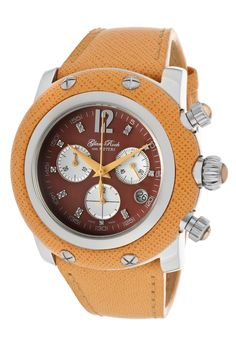 Price:$426.43 #watches Glam Rock GR11107-NV, Be the center of attention with beautiful watches by Glamin. Rock Watch, Beautiful Watches, Glam Rock, Light Orange, Chronograph, Rolex Watches, Miami, Leather, Diamonds