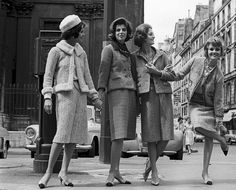 Models wearing Chanel suits, 1962.
