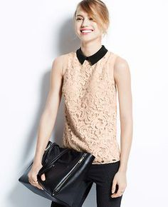 Collared Lace Top http://www.anntaylor.com/tops/cata000010?trail=&pageSize=15&gridSize=md&catid=cata000010&goToPage=3&fRequest=true