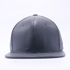 Pit Bull Perforated Leather Snapback Hats Wholesale  Charcoal  26ae438474b4