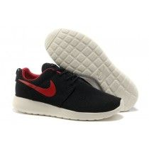 Nike Roshe Run Mens Mesh Shoes Black, White, Red Logo [NQaLn]
