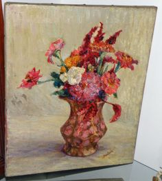 Oil on Canvas, David Burliuk. signed.