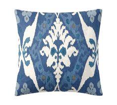 Sarina Ikat Print Pillow Cover   Pottery Barn