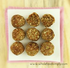 Gluten and Dairy Free Lunchbox Ideas and Toasted Muesli Bites ~ Wholefood Simply