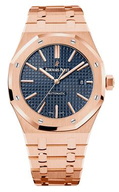 Buy this Audemars Piguet Royal Oak Rose Gold Bracelet here at Exquisite Timepieces, we are Authorized Dealers Audemars Piguet Gold, Audemars Piguet Diver, Audemars Piguet Watches, Cool Watches, Watches For Men, Mvmt Watches, Dream Watches, Luxury Watch Brands, Swiss Army Watches