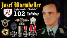 ✠ Knight's Cross on 4 September 1941 ✠ Oak Leaves on 13 November 1942 ✠ Swords on 24 October 1944 ✠ German Cross in Gold on 21 August 1942 ✠ Ehrenpokal der Luftwaffe ✠ Iron Cross 2nd Class (19 October 1939) ✠ Iron Cross 1st Class (16 October 1940) ✠ Wound Badge in Black ✠ Front Flying Clasp of the Luftwaffe in Gold w/ Star Pendant ✠ Combined Pilots-Observation Badge German Soldiers Ww2, Star Pendant, Luftwaffe, Pilot, Hunting