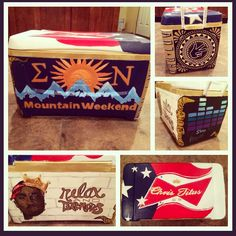 Sigma Nu Mountain Weekend Cooler #fraternitycooler