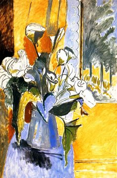 Bouquet of Flowers on a Veranda - Henri Matisse - circa 1912