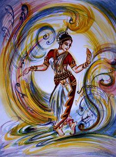 Dance Painting - Dance 3 by Harsh Malik