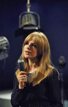 Growing out the fringe... Marianne Faithfull