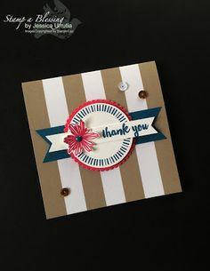"Paper Pumpkin Kits Make it Easy! Banner Surprise June 2016 I love cards. 4 1/4"" square card"