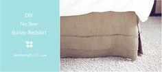 DIY No Sew Burlap Bedskirt