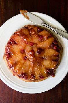 vegan apple cranberry upside down cake by art and lemons, via Flickr