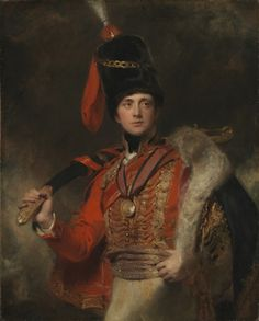 1814, Charles Stewart, 3rd Marquess of Londonderry wearing the uniform of the Hussars, by Sir Thomas Lawrence. National Gallery, London, UK.