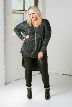 Plus size designer HARLOW Australia Fall 2014 Look Book on The Curvy Fashionista Edgy Plus Size Outfit! Love this Curvy Fashion. Hipster Grunge, Grunge Style, Soft Grunge, Plus Size Fall Fashion, Womens Fashion For Work, Autumn Fashion, Plus Fashion, Fashion 101, Fashion Bloggers
