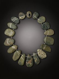 stone necklace by Andrea Williams