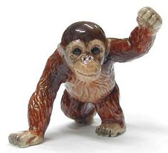Orangutan Baby $6.99 high-quality porcelain miniature is a unique piece of art. It takes a lot of experience, skill and attention to each tiny detail to produce this wonderful figure.