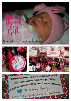 Nurse Thank You Gift by The Curriculum Corner  - great idea after baby's arrival!  Nail polish tags could also be used for shower thank you gifts.  Pink, blue or yellow tags!