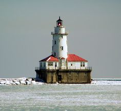 Located at The Navy Pier, Chicago, Illinois: The lighthouse is in the distance: March 08, 2007