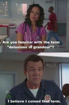 What would Scrubs be without Neil Flynn& brilliant ad-libbing? Scrubs Quotes, Scrubs Tv Shows, The Modern Prometheus, Funny Picture Quotes, Funny Pics, Funny Stuff, Tv Quotes, Qoutes, Best Tv Shows