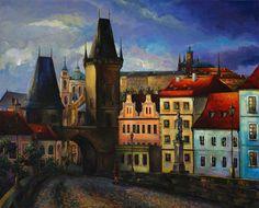 Old Prague by Nelly Baksht by ArtbyNelly on Etsy, $700.00