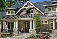Image result for stone front porch